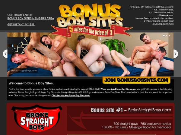 Bonus Boy Sites Accounts Password