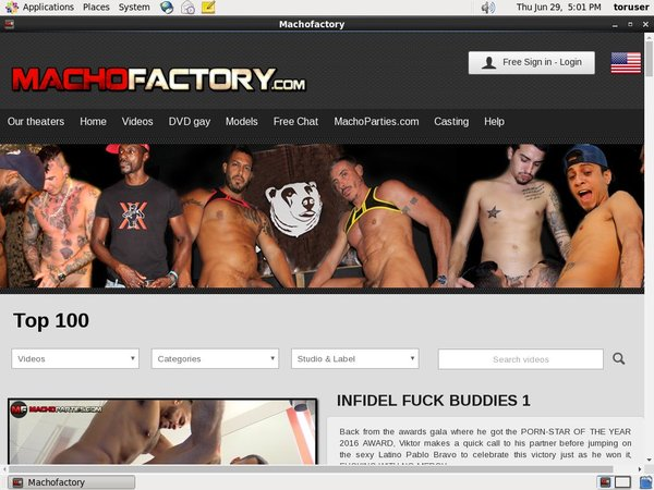 Discount Macho Factory Account