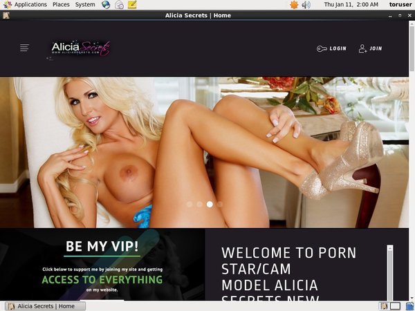 Free Accounts In Aliciasecrets.com